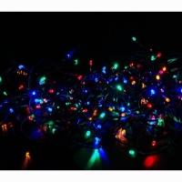 Гирлянда 100 LED (50LED) 7м multicolor чёрный провод