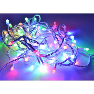 Гирлянда 140 LED  8м  RGB  прозрачный  провод