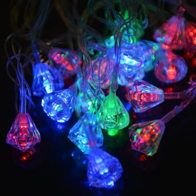 Гирлянда-фигурка кристалик малый прозрачный  40LED (20LED) 4м
