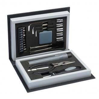 Набор инструментов в кейсе TUNDRA пластиковый кейс Книга 23 февраля 24 предметов