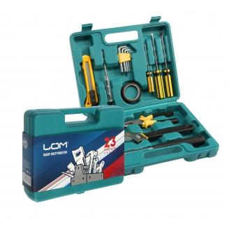 Набор инструментов в кейсе LOM 23 февраля 15 предметов 4193182