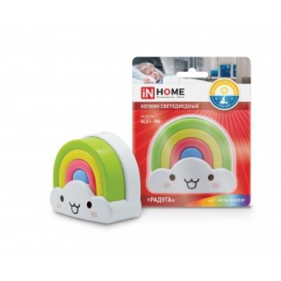 IN HOME Ночник светодиодный NL01-RM Радуга 230В (со светочувствительм  датчиком)
