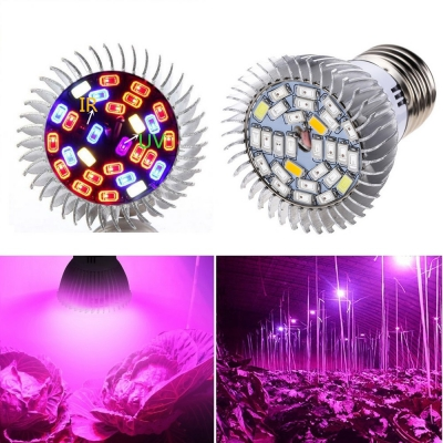 Лампа для растений 28W led E27 Спектр:15красн+7синих+4бел