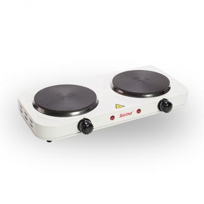 Плитка электр. JX-6243A 2000W белая 2-х мест. (блин)