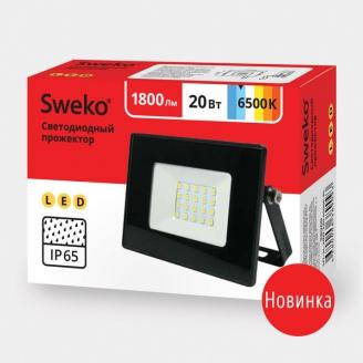 Прожектор светодиодный  Sweko SFL-SL- 20W-230-6500K BL