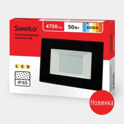 Прожектор светодиодный  Sweko SFL-SL- 50W-230-6500K BL