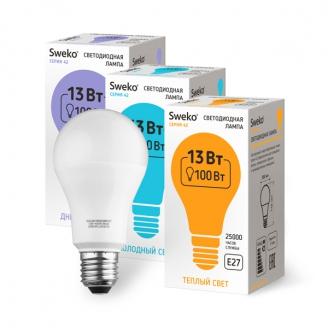 Светодиодная лампа 42 серия 42LED-A60-13W-230-3000K-E27