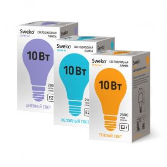 Светодиодная лампа 42 серия 42LED-A60-10W-230-3000K-E27-Р