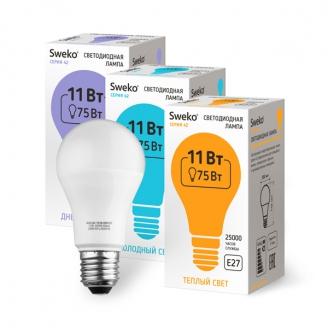 Светодиодная лампа 42 серия 42LED-A60-11W-230-3000K-E27