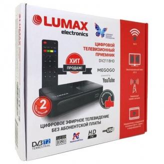 LUMAX Цифровой ТВ ресивер TV DVB-Т2 (DV 2118HD)