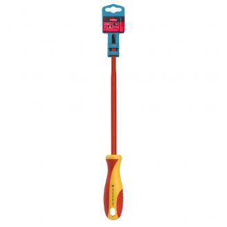 Диэлектрическая отвертка крестовая PH1x150, до 1000В, VDE, прорез.ручка, серт. испыт. Smartbuy Tools