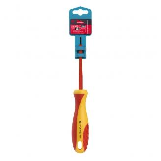 Диэлектрическая отвертка крестовая PH0x60, до 1000В, VDE, прорез.ручка, серт. испыт. Smartbuy Tools