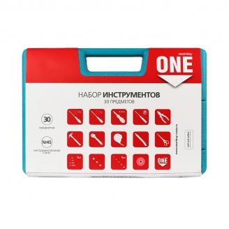 Набор инструментов 30 предметов, отв.,биты,голов.,плоског.,молот., и т.д. Smartbuy One Tools