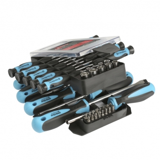 Набор отверток и головок 44 предмета, SL, PH, PZ, TORX, HEX, головки, магнит, CR-V, Smartbuy Tools