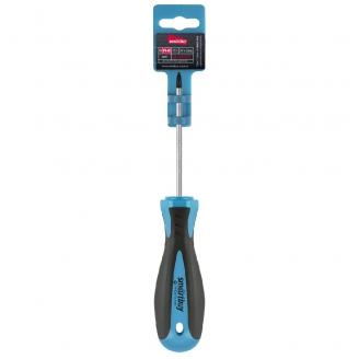Отвертка крестовая PH0x75, эргономичная 2х-компонентная рукоятка, CR-V, магнит, Smartbuy Tools