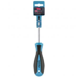 Отвертка крестовая PH1x75, эргономичная 2х-компонентная рукоятка, CR-V, магнит, Smartbuy Tools