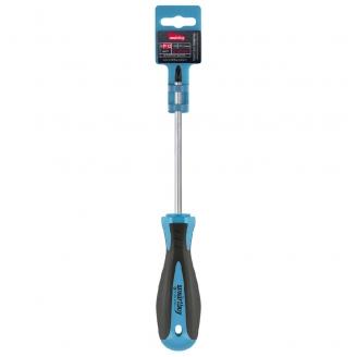 Отвертка крестовая PH2x100, эргономичная 2х-компонентная рукоятка, CR-V, магнит, Smartbuy Tools