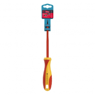 Отвертка шлицевая SL3x100, эргономичная 2х-компонентная рукоятка, CR-V, магнит, Smartbuy Tools
