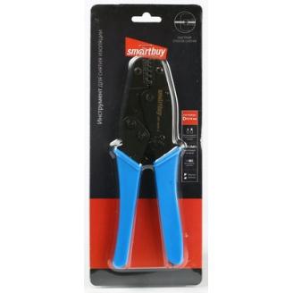 Клещи обжимные 0,5-6мм2, трещотка, для трещётка, для трубч. изолир. и неизолир. нак, Smartbuy Tools