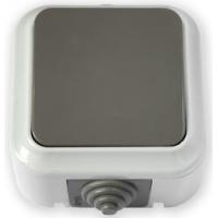 Пралеска-АКВА серый Выключатель 1о/у  А16-222 IP54 (03)