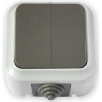 Пралеска-АКВА серый Выключатель 2о/у  А56-224 IP54 (03)