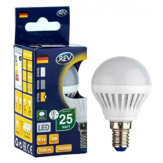 REV Лампа LED G45  5W 2700K E27 тёплый свет