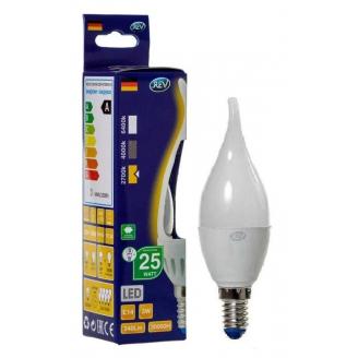 REV Лампа LED FC37  3W 2700K E14, свеча на ветру, тёплый свет
