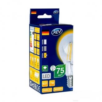 REV Лампа LED A60-PREMIUM  7W 4000K E27 холодный свет