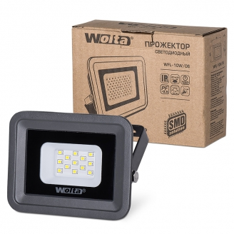 Wolta Прожектор WFL- 10W/06 серый, 5500K, 850Лм, IP65