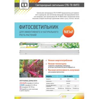 IN HOME Св-к СПБ-T8-ФИТО 14Вт 230В IP40 1200мм для роста растений