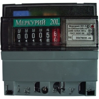 Счётчик электр. Меркурий 201.5 МОУ 5-60А/220В однотариф.